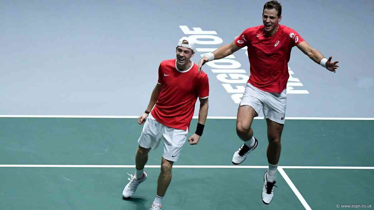 First-time Davis Cup finalist Canada to face Spain