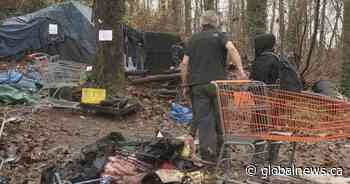 Surrey tent city residents accuse city of forcing them out with no time to gather belongings