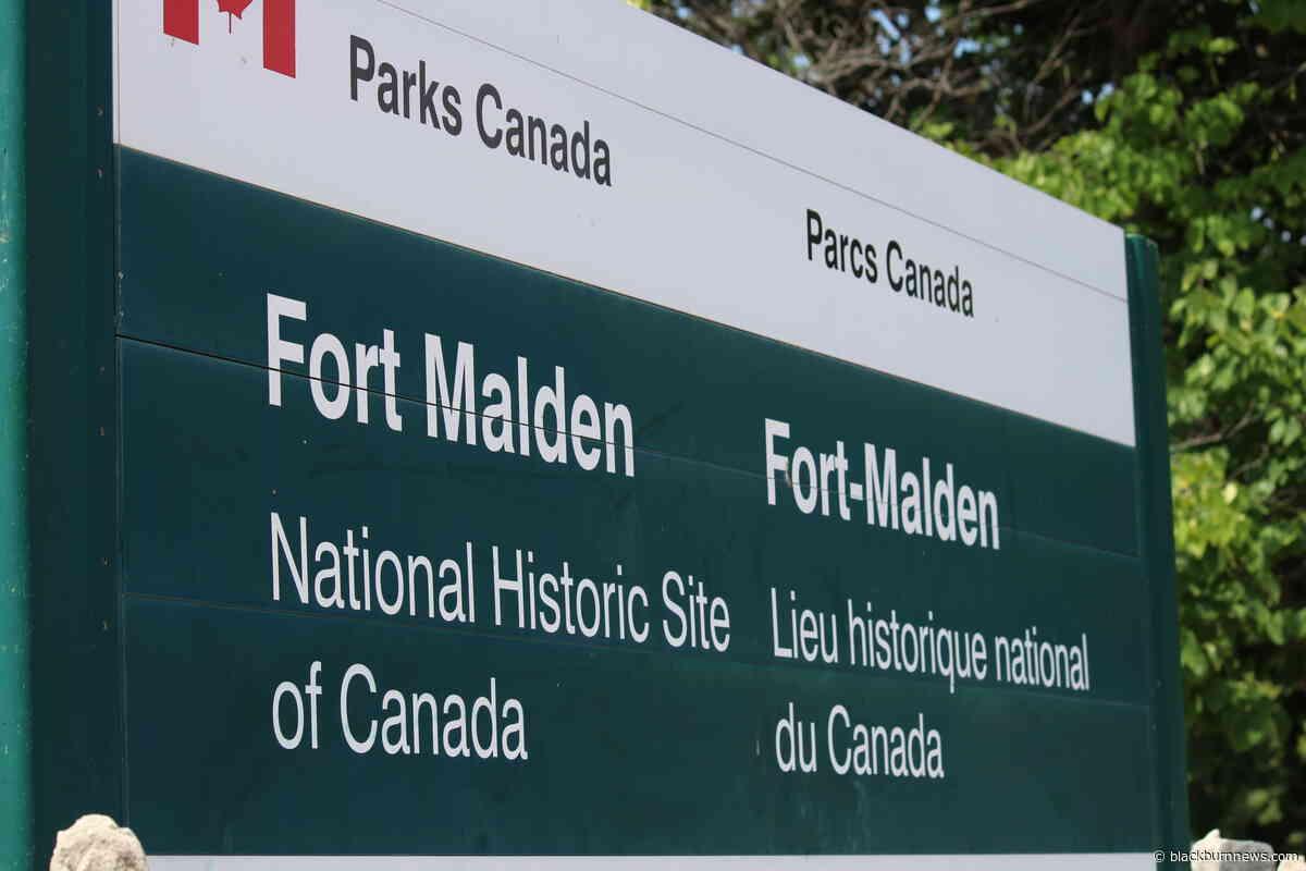 Work underway at Fort Malden National Historical Site