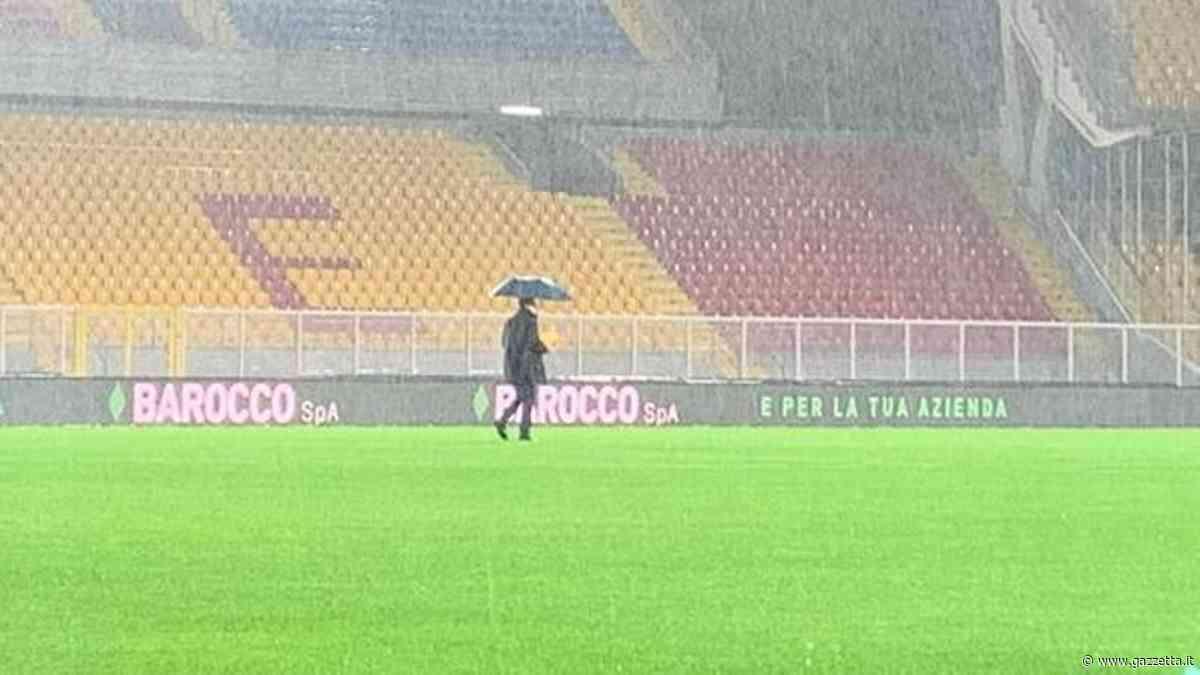 Lecce-Cagliari rinviata per maltempo: forse si recupera domani
