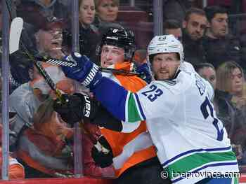 Ben Kuzma: Edler escapes severe injury, will take game-day skate Monday