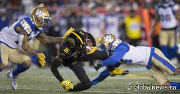 Winnipeg Blue Bombers win Grey Cup after almost 30 years
