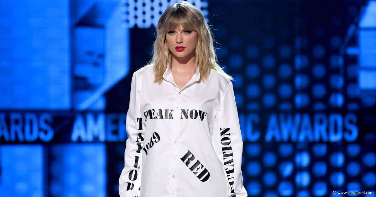 Taylor Swift Wears Shirt with Past Album Titles, Sings 'The Man' at AMAs 2019 as Response to Braun & Borchetta
