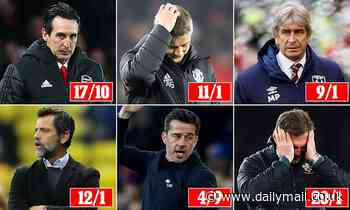 The Premier League sack race: Marco Silva is odds-on to be the next boss axed