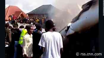 Plane crashes into homes in DR Congo town