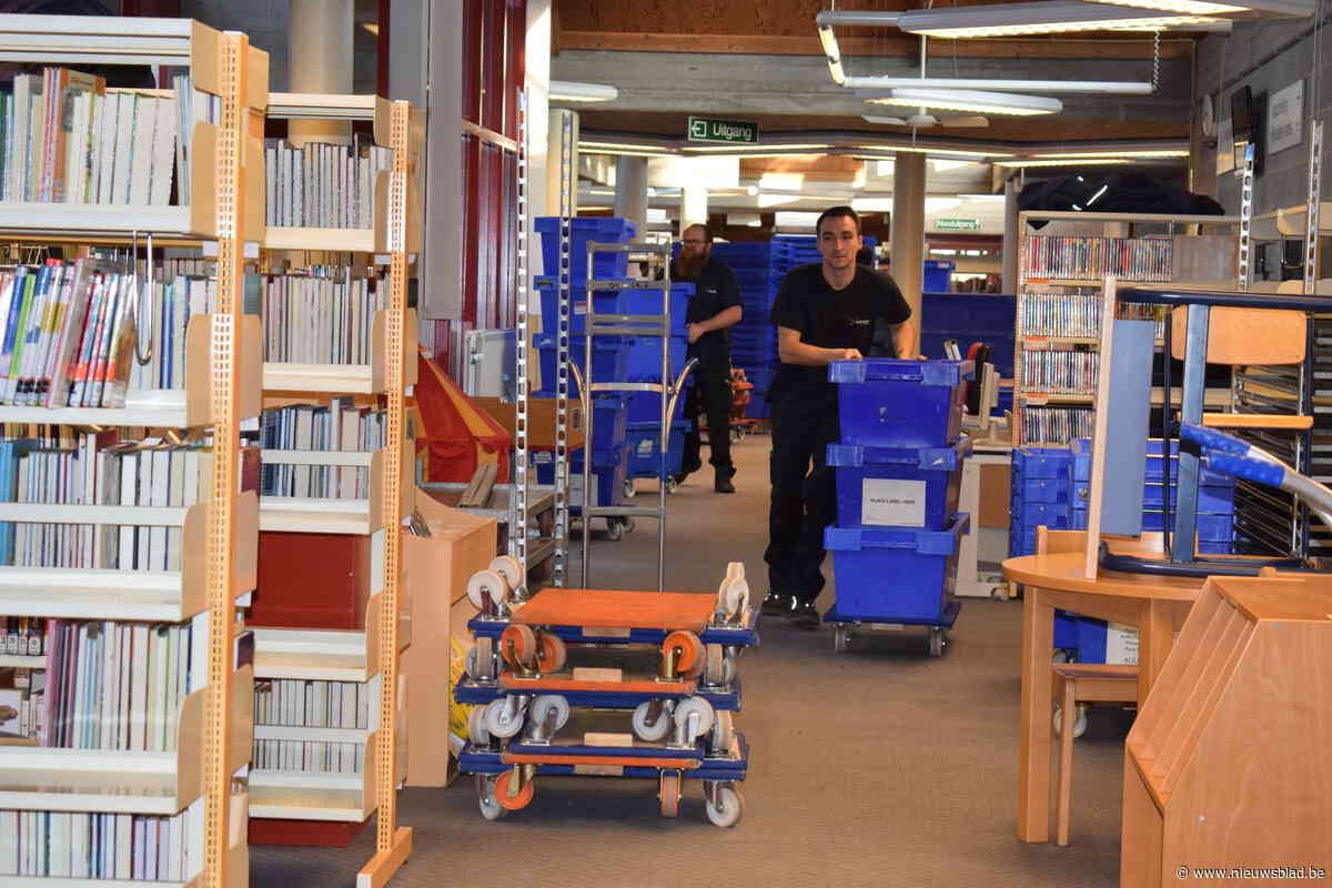 Verhuis bibliotheek en dienst Vrije Tijd goed gestart