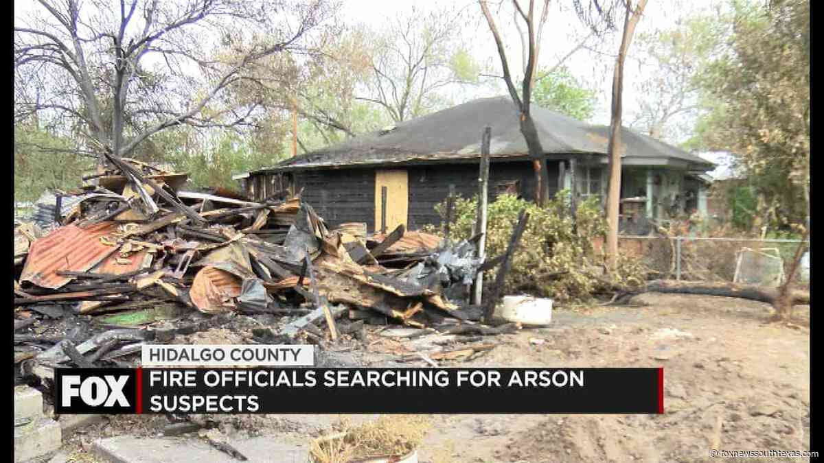 Officials Search for Arson Suspect while family rebuilds