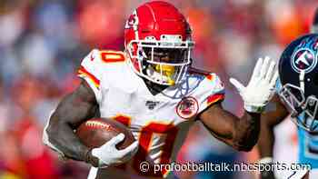 Andy Reid optimistic Tyreek Hill can play this week