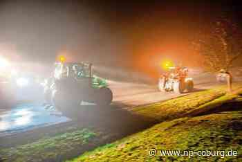 Landwirte aus Coburg starten zur Protestfahrt nach Berlin