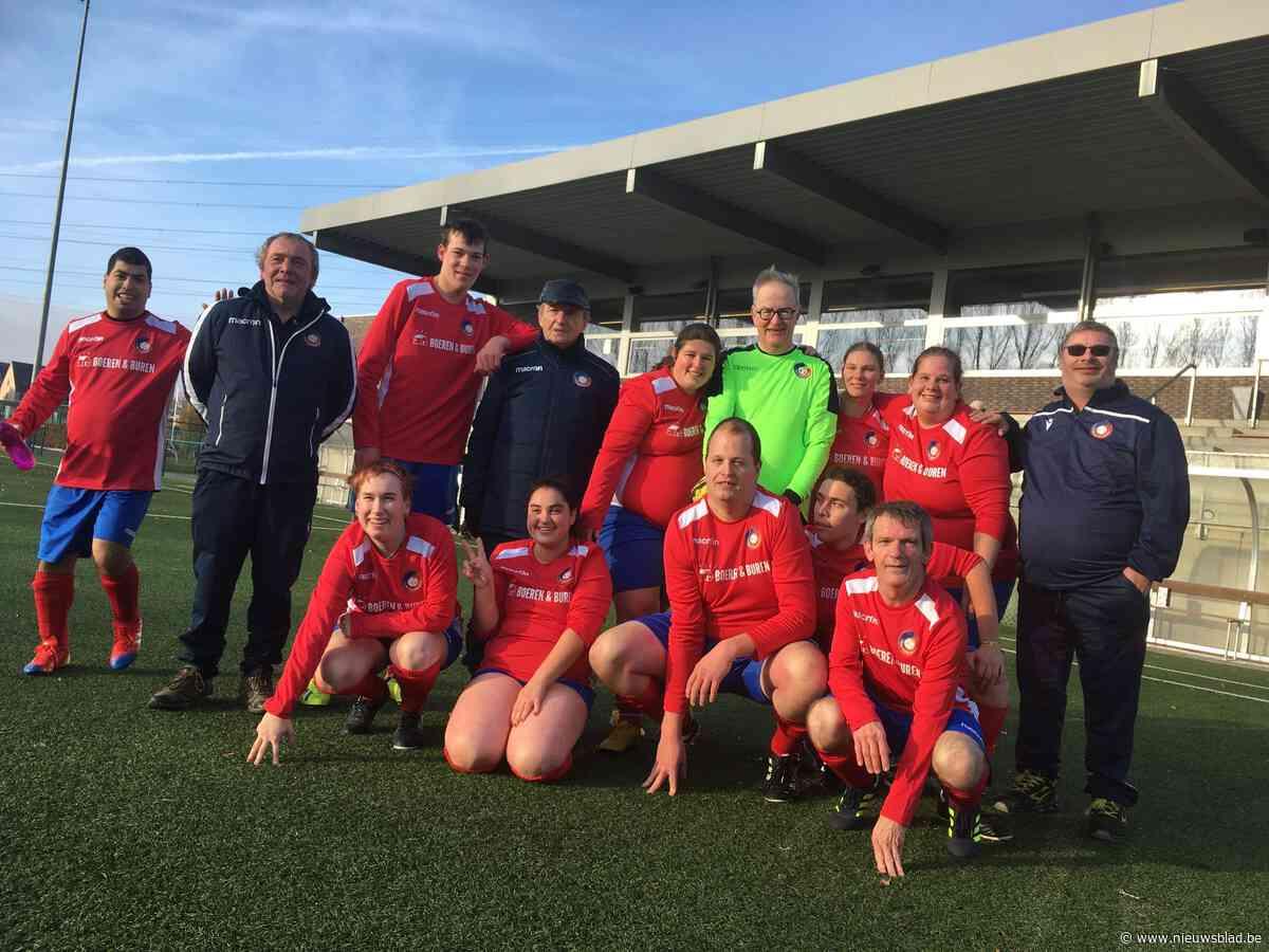G-voetballers speelden topmatch tegen bestuur van Koninklijke Hoger Op Wolvertem-Merchtem