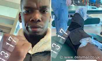 Manchester United midfielder Pogba takes to Instagram to show he's STILL getting treatment on ankle