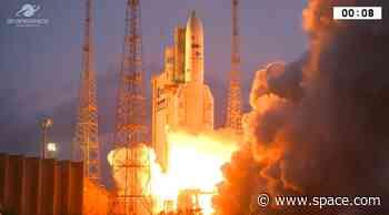 Ariane 5 Rocket Launches Satellites into Orbit for Egypt, Inmarsat