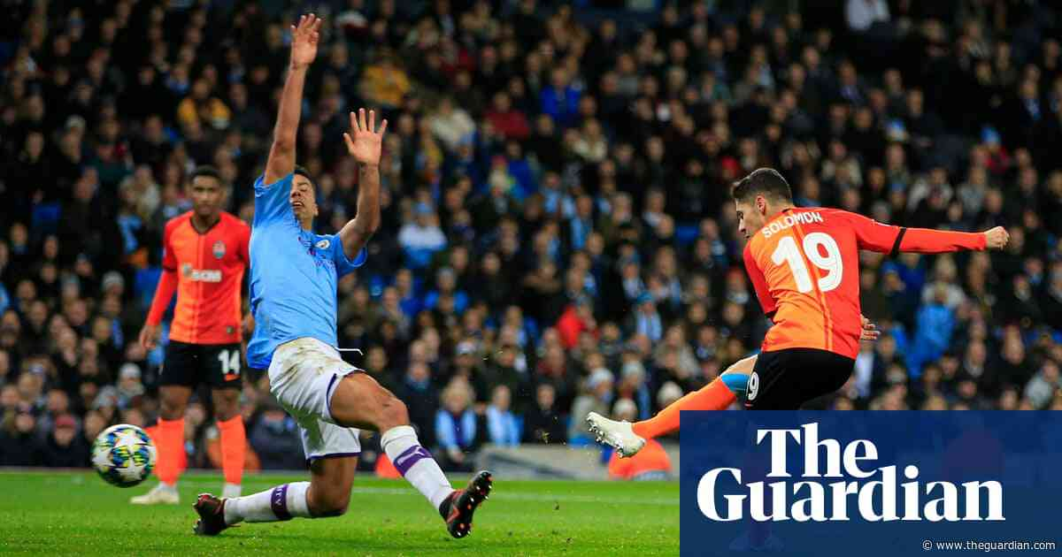 Manchester City finish top despite Shakhtar Donetsk snatching a draw