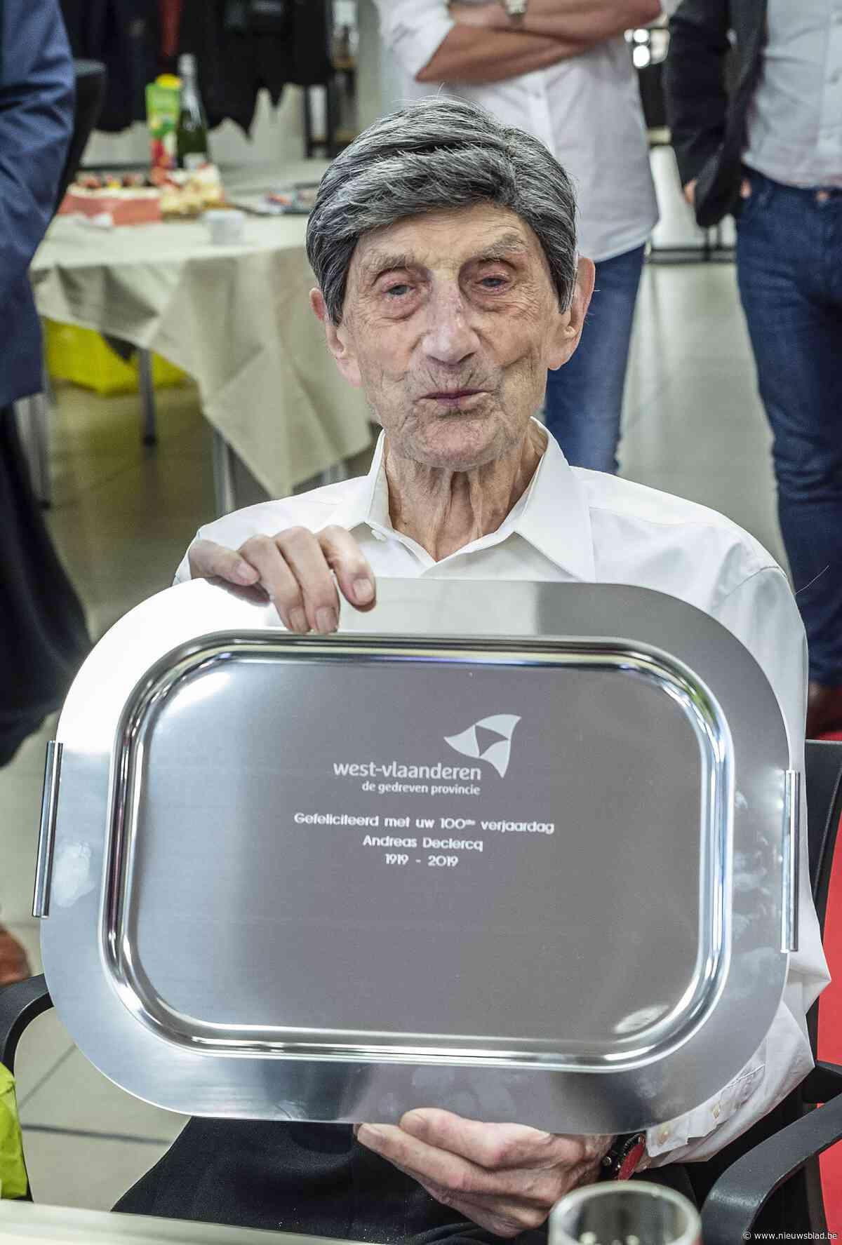 """Andreas Declercq is 100 jaar geworden: """"Leef sober en gedisciplineerd"""""""