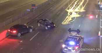 Highway 15 in Montreal partially closed after crash sends 4 people to hospital