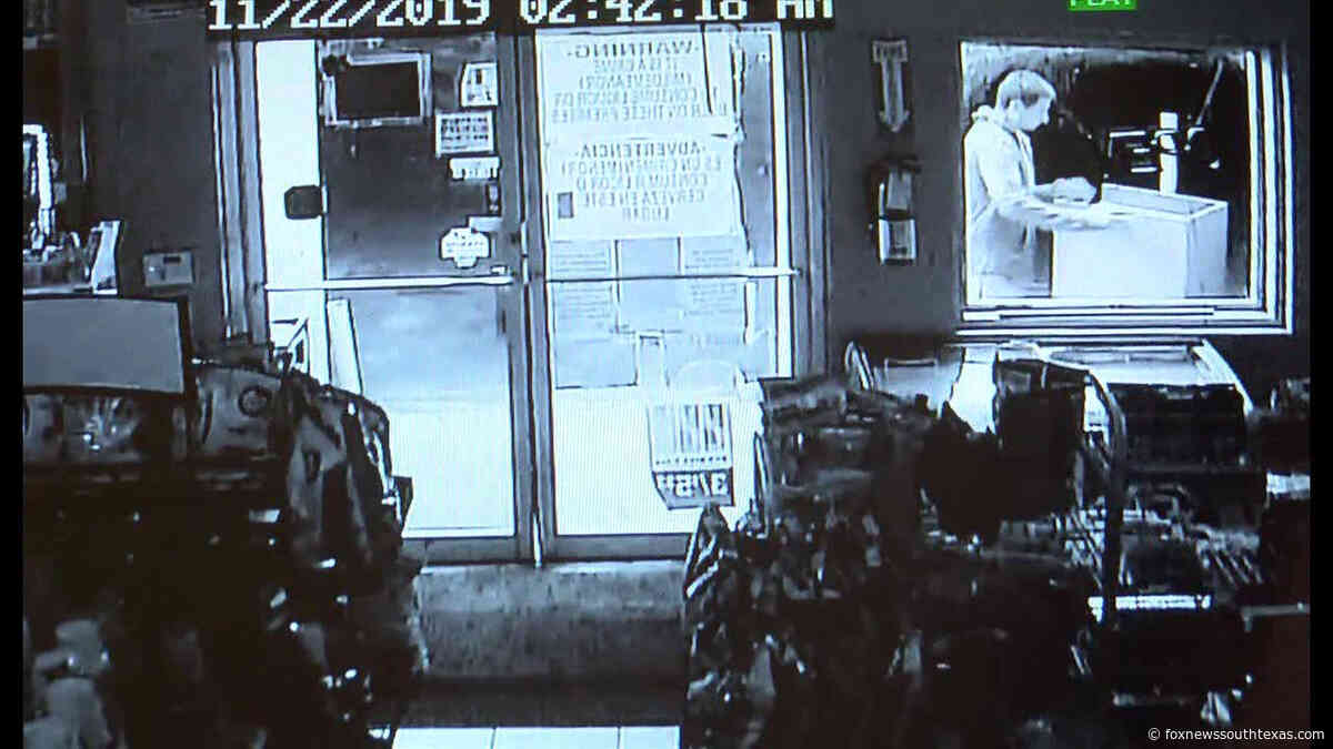 Meat Market Robbery Suspect Caught on Surveillance
