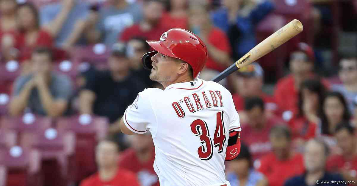 Rays acquire O'Grady from Reds; DFA Aguilar