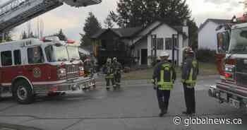2-alarm Surrey house fire leaves 3 people injured, 1 seriously