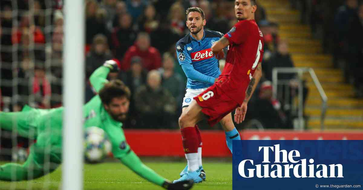 Dries Mertens and Napoli show rivals that Liverpool have their flaws | Barney Ronay