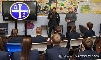Xherdan Shaqiri visits Kirkby school