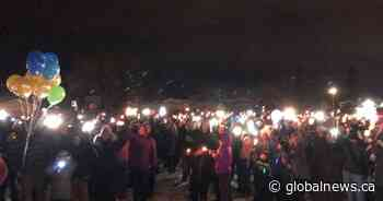 Fort Saskatchewan vigil held to honour lives of 2 youngsters killed in separate tragedies