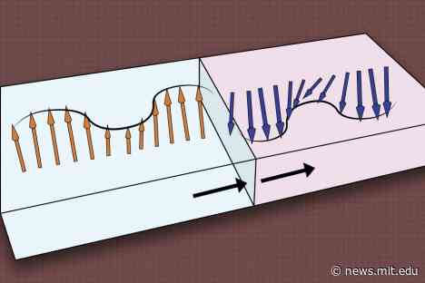 Toward more efficient computing, with magnetic waves