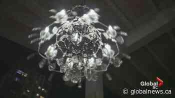 Massive spinning chandelier unveiled under Granville Street Bridge
