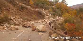 La RD17 interdite dans les deux sens entre Roquesteron et Sigale après un éboulement