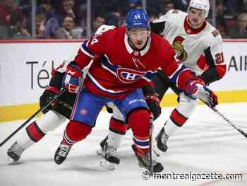 Stu Cowan: Canadiens winger Charles Hudon battling to remain in NHL