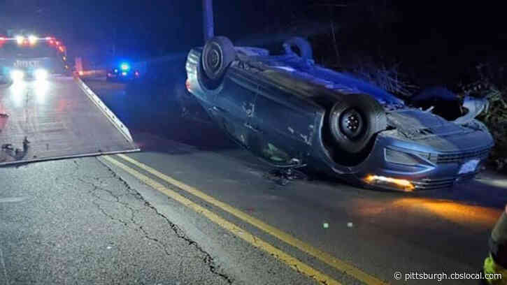 Officials Respond To Vehicle Rollover Crash In Avalon