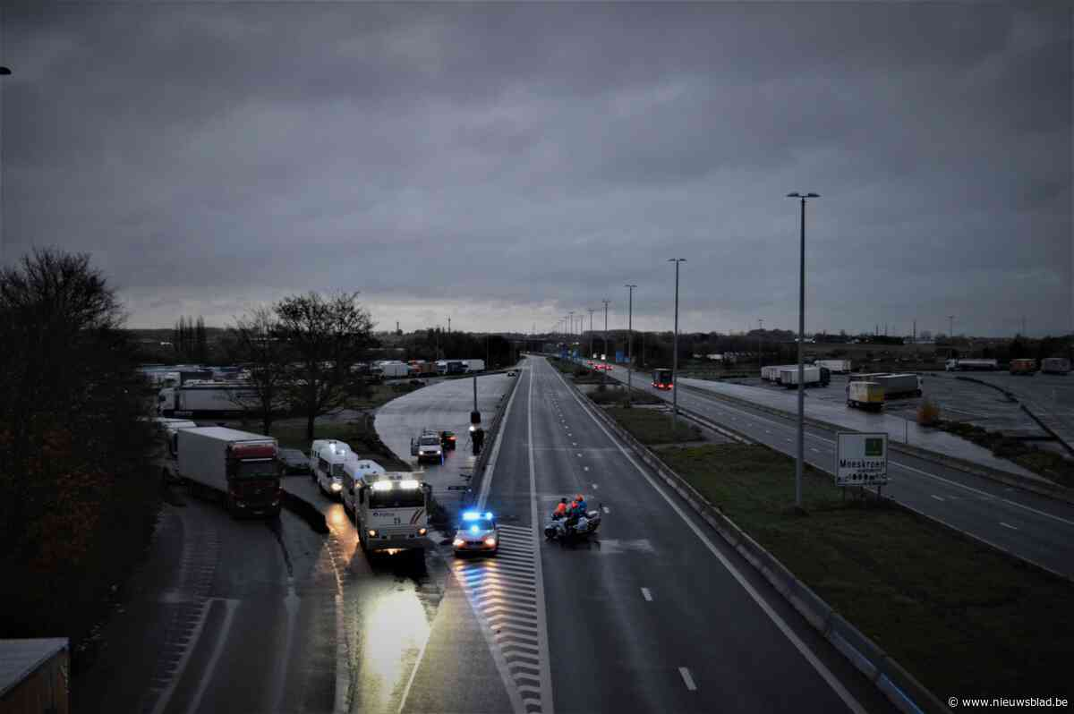 Brexit-plan zorgt voor minimale hinder blokkade grensovergang E17