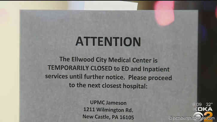 'We Desperately Need This Hospital': Ellwood City Medical Center Closes To Inpatient, ER Services