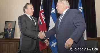 Ontario Premier Doug Ford to meet with Quebec Premier François Legault in Montreal