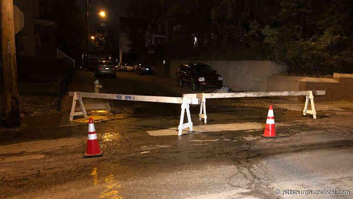 Water Main Break Closes Virginia Ave. In Mount Washington