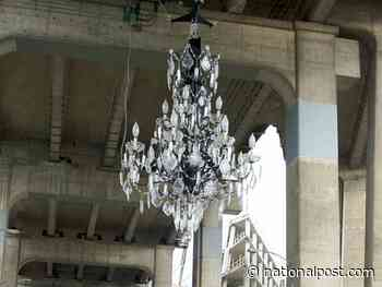 What weighs 3,400 kilos, cost $4.8 million and hangs from a bridge? Vancouver's 'spectacular' or 'tone-deaf' chandelier
