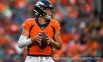 Drew Lock in line to make his first start