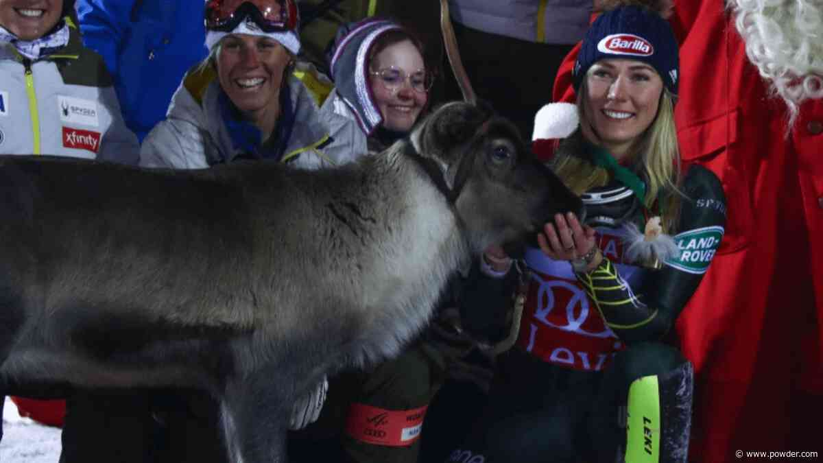 Mikaela Shiffrin Breaks World Cup Slalom Record, Wins Reindeer