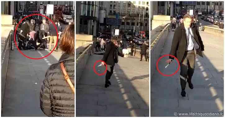 Londra, i passanti bloccano a terra l'aggressore armato: un uomo gli sottrae il coltello. Il video
