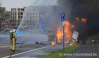 Man in levensgevaar nadat bestelwagen ontploft