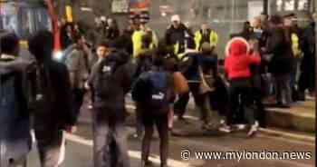 Croydon 'riot': Footage shows brawling kids in town centre as police struggle for control