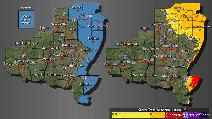 Winter Storm Watch Issued For Parts Of Western Pennsylvania