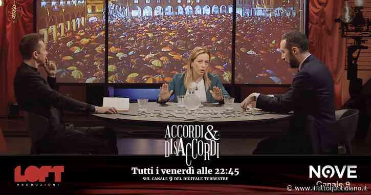 """Accordi&Disaccordi (Nove), Meloni: """"Le sardine in Emilia Romagna fanno campagna elettorale per Bonaccini"""""""