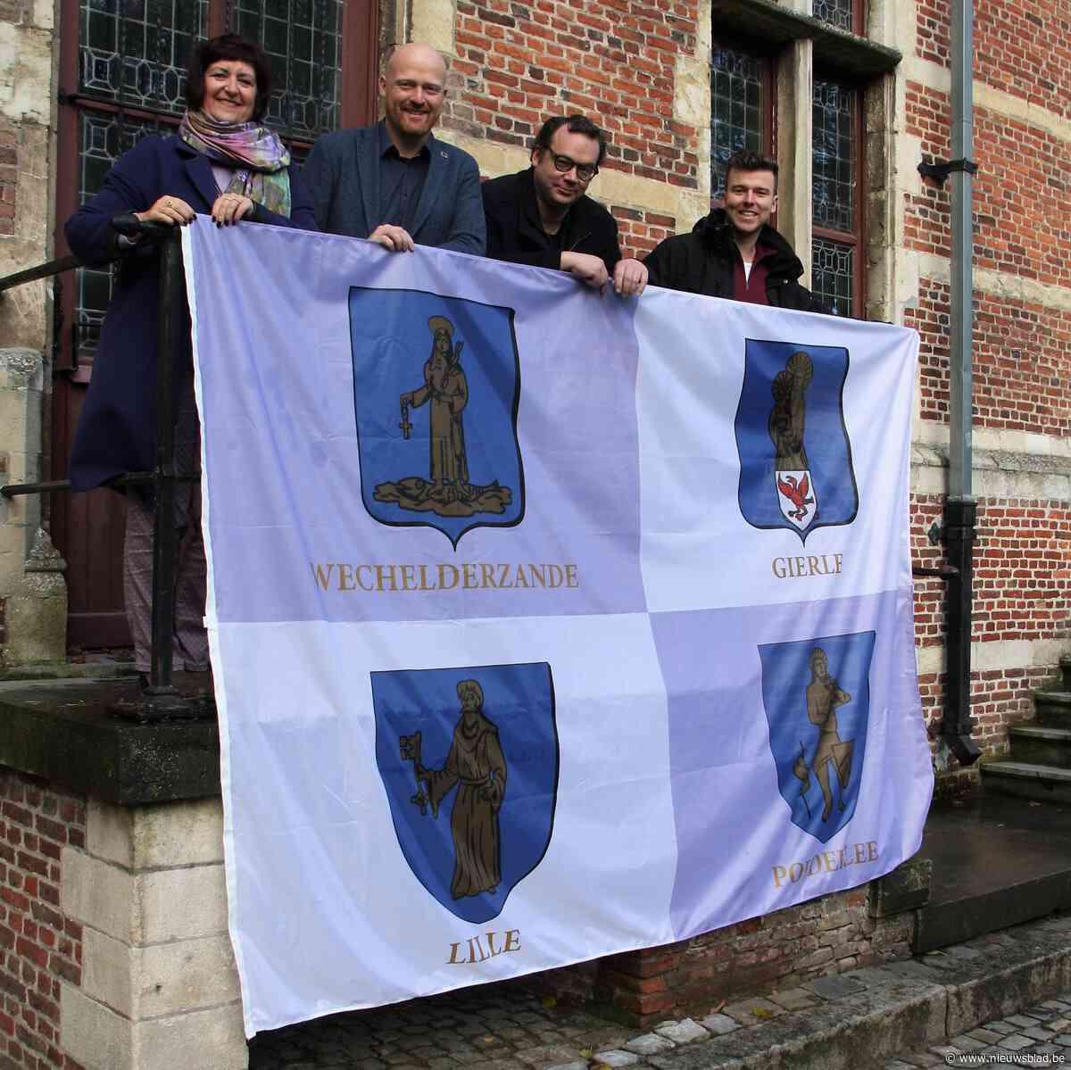 Vlaggen met wapenschilden zetten deelgemeenten in kijker