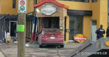Car crashed into a Pizza Delight restaurant in Moncton