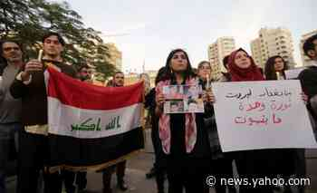 Lebanese rally against Iraq's crackdown on protesters
