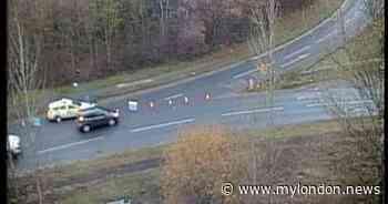 Caterham crash live: Caterham Bypass closed northbound due to collision near M25