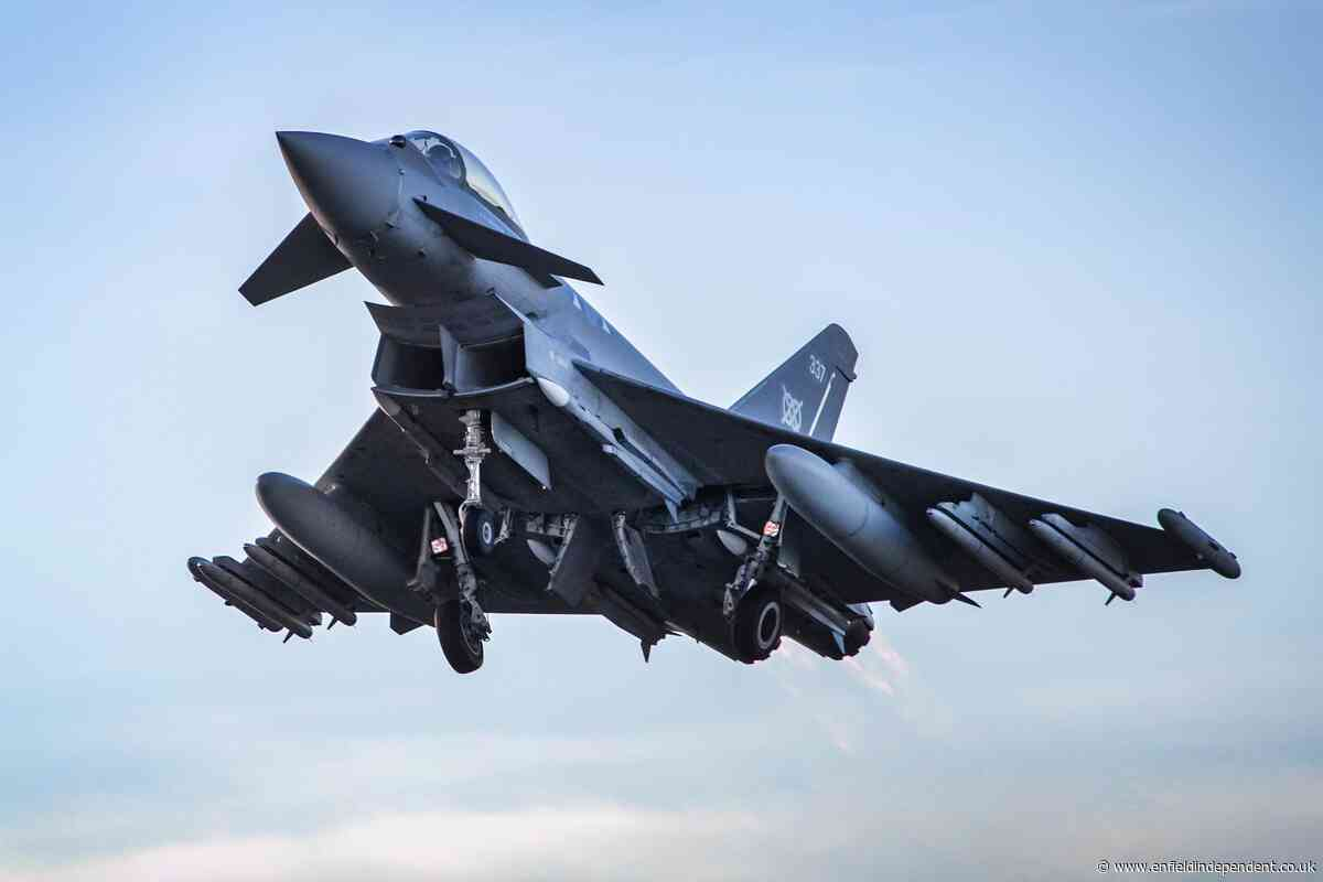 Loud bang this morning caused by RAF jets