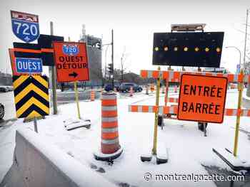 Stay off the westbound Ville-Marie and Highway 20 on Sunday
