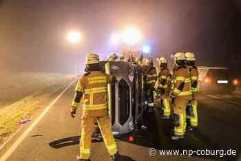 B 289: Auto erfasst Fußgänger - lebensgefährlich verletzt