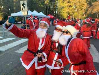 There was no rain dear, just 400 shuffling Santas for Burn Fund cause